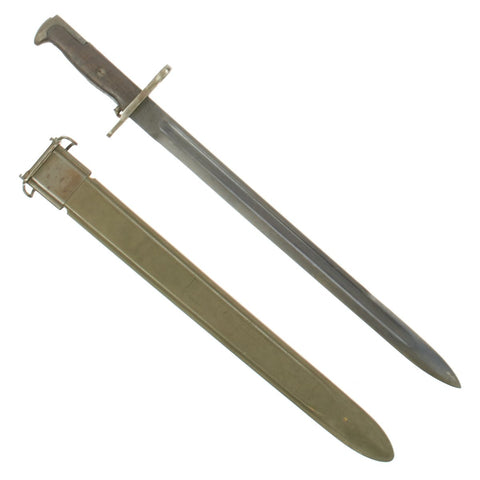 Original U.S. WWI M1905 Springfield 16 inch Rifle Bayonet marked S.A. with M3 Scabbard - dated 1913 Original Items