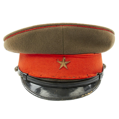 Original WWII Imperial Japanese Army Officer Visor Cap Original Items