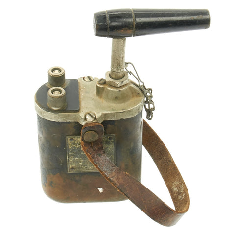 Original U.S. WWII D-Day Army 10 Cap Blasting Machine with Handle by White-Rodgers Elec. Co. - Demolition Team Original Items