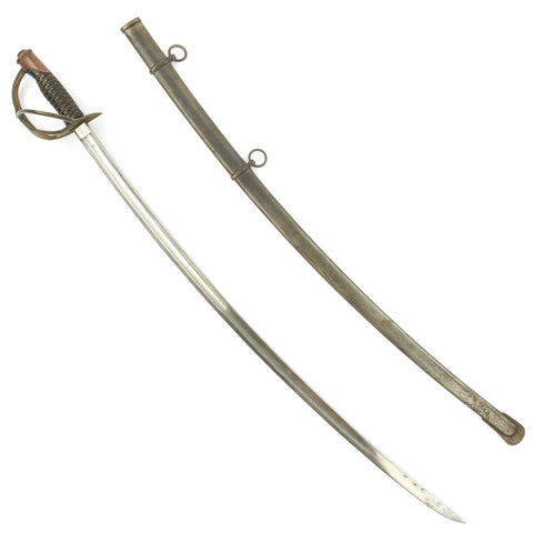 Original U.S. Civil War M1860 Light Cavalry Saber by Mansfield and Lamb with Scabbard - Dated 1864 Original Items
