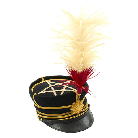 Original WWII Imperial Japanese Army Officer Captain Dress Hat with Plume