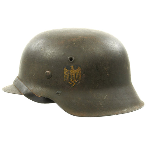 Original German WWII M42 Kriegsmarine Single Decal Helmet - ckl 68