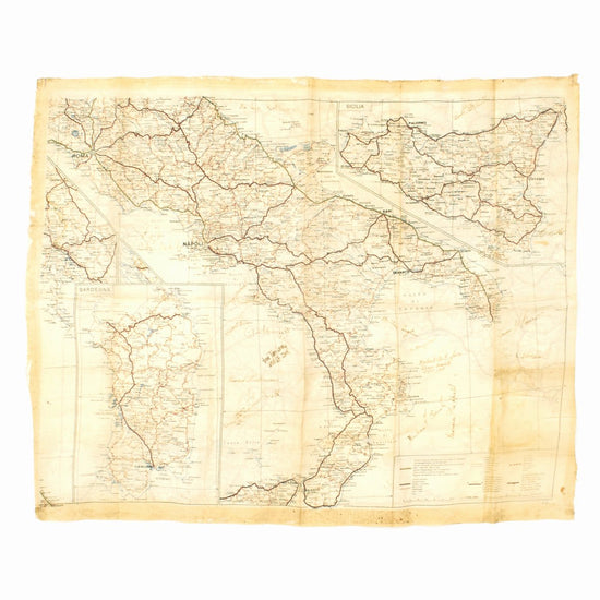 Original U.S. WWII 505th Parachute Infantry Regiment (505th PIR) Signed Silk Escape Map of Italy