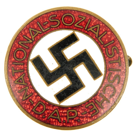 Original German NSDAP Party Enamel Membership Badge Pin RZM M1/120 by Wilhelm Deumer Original Items