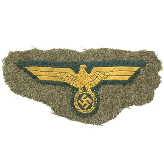 Original German WWII Kriegsmarine Uniform Chest Eagle Cut Off