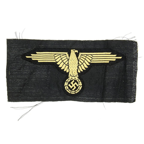 Original German WWII SS Afrika Korps M43 Cap Eagle BeVO Embroidered Insignia with RZM Tag Original Items