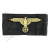 show larger image of product view 1 : Original German WWII SS Afrika Korps M43 Cap Eagle BeVO Embroidered Insignia with RZM Tag Original Items