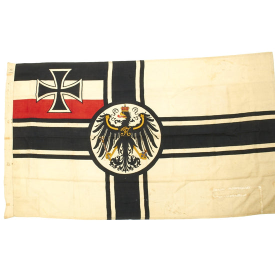 Original Imperial German WWI Naval Gaffel Mounted Battle Flag 1.2m x 2m - Kriegsflagge