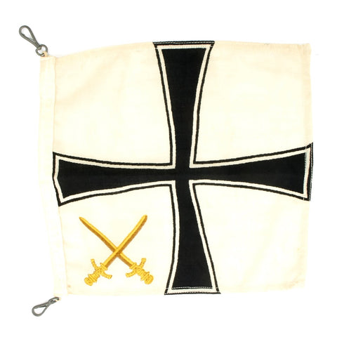 Original German WWII General Admiral Rank Command Flag - Generaladmiralflagge für Kraftwagen Original Items