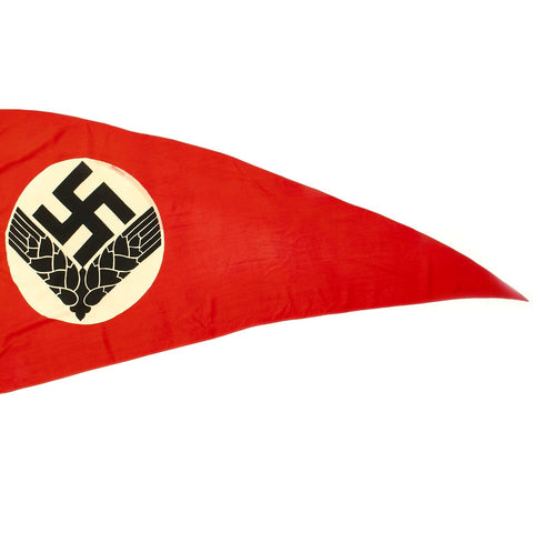 "Original German WWII RAD Women's Reich Labor Service Large Pennant Flag - 76"" x 42"" Original Items"