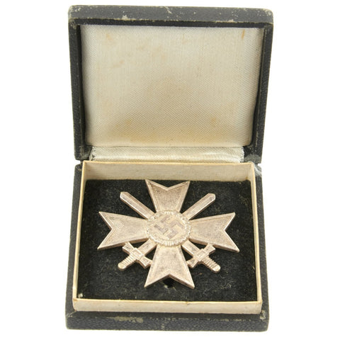 Original German WWII War Merit Cross KvK 1st Class in Silver with Case Original Items