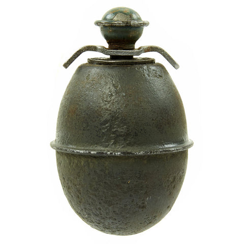 Original German WWII Model 39 Inert Egg Hand Grenade with 1943 dated Fuze - Eierhandgranate Original Items