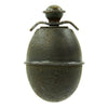 show larger image of product view 3 : Original German WWII Model 39 Inert Egg Hand Grenade with 1943 dated Fuze - Eierhandgranate Original Items