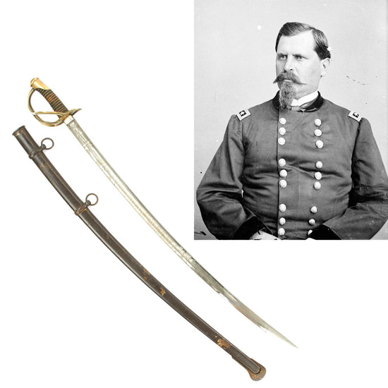 Original U.S. Civl War Brigadier General William B. Hazen Model 1840 Presentation Cavalry Saber Original Items