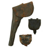show larger image of product view 1 : Original U.S. Civil War Leather Flap Holster for Colt Revolvers with Federal Cap Boxes