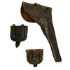 show larger image of product view 2 : Original U.S. Civil War Leather Flap Holster for Colt Revolvers with Federal Cap Boxes