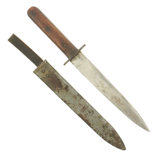 Original WWI Austro-Hungarian Fighting Knife with Steel Scabbard