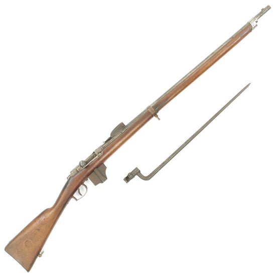 Original Dutch Beaumont-Vitali M1871/88 Bolt Action Magazine Conversion Rifle with Bayonet - Dated 1873