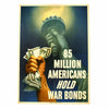 show larger image of product view 1 : Original U.S. WWII 85 Million Americans Hold War Bonds Poster Original Items