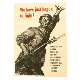 Original U.S. WWII Propaganda Poster - We Have Just Begun to Fight! by Norman Rockwell