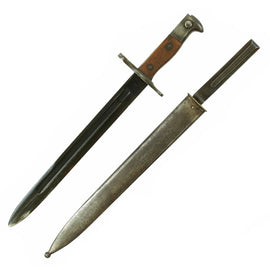 Original U.S. Pre-WWI M1892 Bayonet and Scabbard for Springfield Krag-Jørgensen Rifles - dated 1901