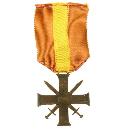 Original Norwegian WWII Brave and Faithful Order 2nd Class Quisling Cross Award with Ribbon