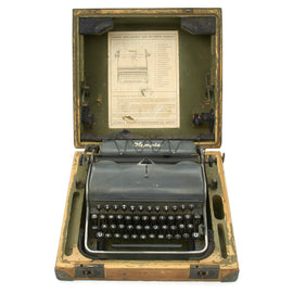 "Original German WWII Rare SS ""ROBUST"" Model Typewriter by Olympia - USGI Bring Back"
