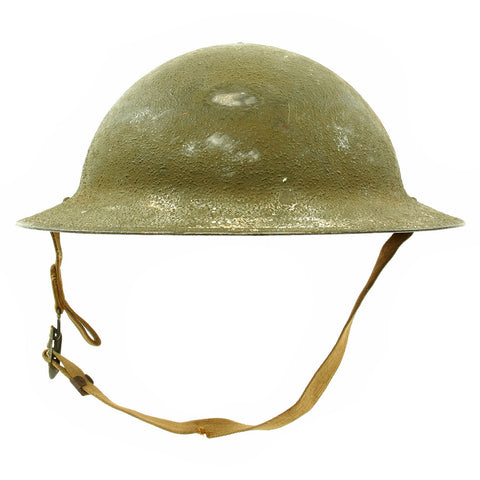 Original U.S. WWII M1917A1 Named Kelly Helmet with Textured Paint - Pvt. Grant King Original Items