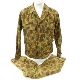 Original U.S. WWII Herringbone Twill Camouflage Jacket and Pants