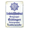 show larger image of product view 1 : Original German WWII RLB Enamel Sign - Reichsluftschutzbund Ortsgruppe Göttingen Untergruppe Dahlenrode Original Items