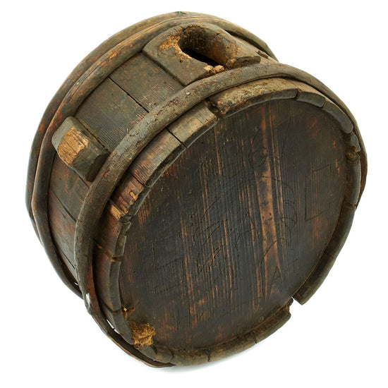 Original U.S. Civil War Confederate 1861 Dated South Carolina Artillery Wooden Drum Canteen