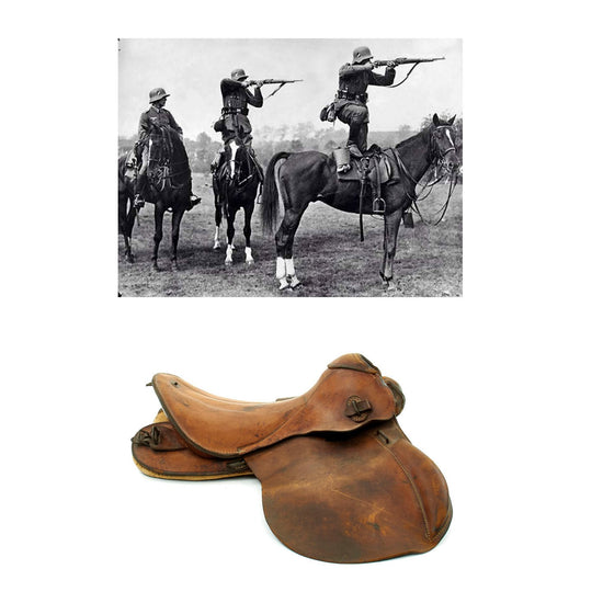 Original German WWII Cavalry Officer Saddle in size 2 by Max G. Müller of Nürnberg