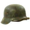 Original German WWII M42 Camouflage Painted Steel Helmet with Size 55 Liner - EF62