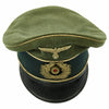 show larger image of product view 2 : Original German WWII Army Heer Officer Simulated Crusher Visor Cap Original Items