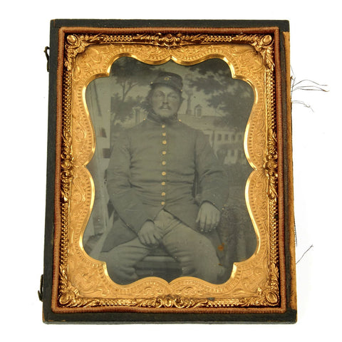 Original U.S. Civil War Federal Soldier Sixth Plate Tintype Photograph