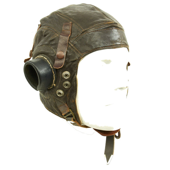 Original British WWII RAF Type C Leather Flying Helmet Original Items