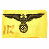show larger image of product view 1 : Original German WWII State Service Armband marked for P.O.W. Work Battalion 24 Prisoner 112 Original Items