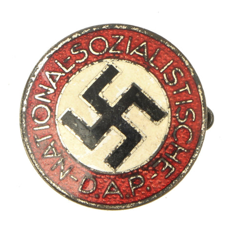 Original German NSDAP Party Enamel Membership Badge Pin by E.L. Müller of Pforzheim - RZM M1/27 Original Items