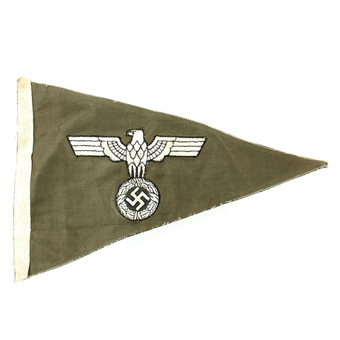 Original German WWII Wehrmacht Army Heer Officer Vehicle Staff Car Fender Pennant Flag Original Items