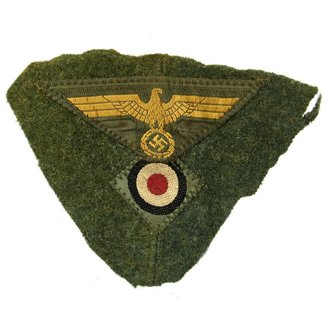 Original German WWII Kriegsmarine Coastal Artillery Cut Off M43 Cap Eagle and Cockade Original Items