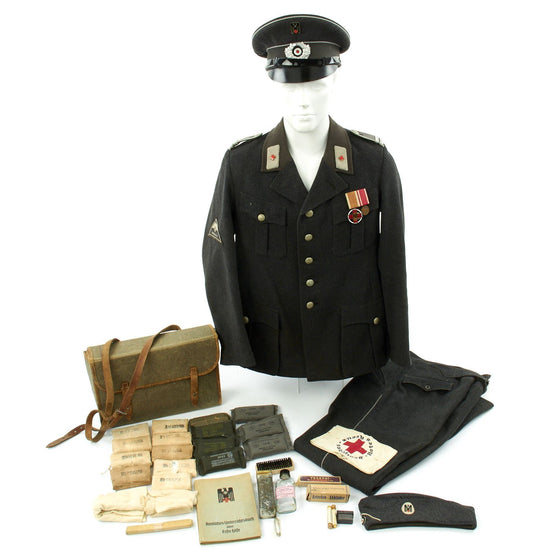 Original German WWII Red Cross Deutsches Rotes Kreuz NCO Uniform Set