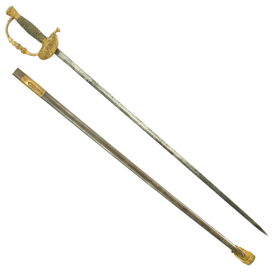 Original U.S. Civil War Era Army Officer's M1860 Dress Sword by Ridabock & Co. with Scabbard