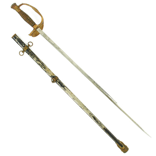 Original U.S. Spanish-American War Army Officer's M1860 Dress Parade Sword by M.C. Lilley with German Blade