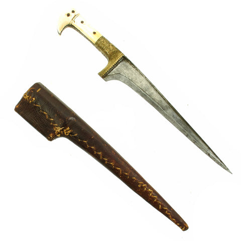Original Victorian Afghan Khyber Pass Chura Dagger with Scabbard circa 1840 Original Items