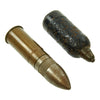 show larger image of product view 2 : Original Japanese WWII Philippine Invasion Inert Ordnance Set - 1942 dated Mortar Round and 37mm Shell