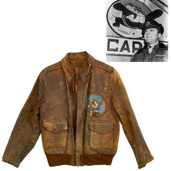 Original U.S. WWII 54th Troop Carrier Squadron Named A-2 Flight Jacket Original Items