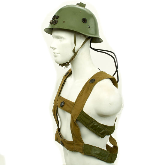 Original Cold War Chinese People's Liberation Army PLA Multiple Integrated Laser Engagement System MILES Type Helmet with Vest Original Items