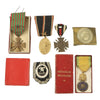 show larger image of product view 1 : Original WWI Era Medal Grouping with 2 French Awards, 3 German Awards, & German Belt Buckle Original Items