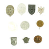 show larger image of product view 2 : Original German WWII Tinnie Award Pin Collection - Set of 10 Original Items