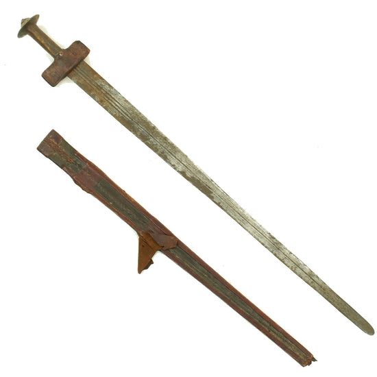 Original Victorian Era Sudanese Mahdi Dervish Kaskara Broadsword with Scabbard circa 1885 Original Items